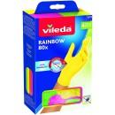 Vileda Guanti Multiuso Rainbow, Nitrile, Multicolore, 80 Pezzi, M/L
