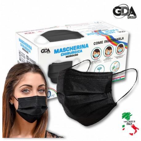 50 pz -Mascherina chirurgica per adulti - 100% prodotto in Italia -  Dispositivo Medico di Classe 1