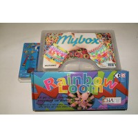 KIT RAINBOW LOOM + UPGRADE UNCINETTO CON PUNTA IN METALLO + MY BOX