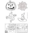 Disegni Stampabili Halloween B/N - Gratis