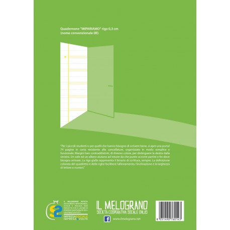 Quadernone per Disgrafici - Riga 0.3 cm