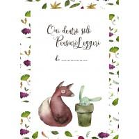 Quaderno A5 di Laura - Foglie & Volpina, a quadretti