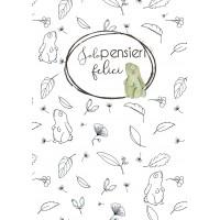 Quaderno A5 di Laura - Foglie & Coniglietti da colorare, a quadretti