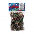 600 elastici OPACHI_CAMOUFLAGE_Rainbow Loom