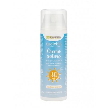 Crema solare alta protezione SPF. 30