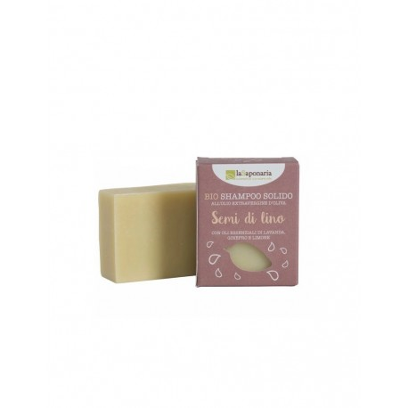 Shampoo solido ai semi di lino 100g - Linea Shampoo La Saponaria