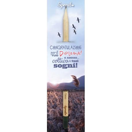 """Sprout  Diploma """"Coltiva i tuoi sogni..."""" - La matita che si pianta"""