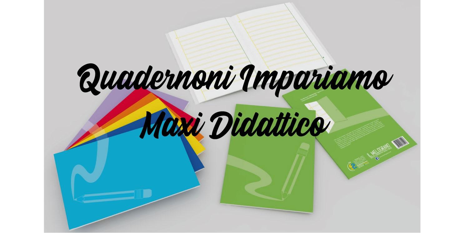 Quadernoni Maxi Didattici